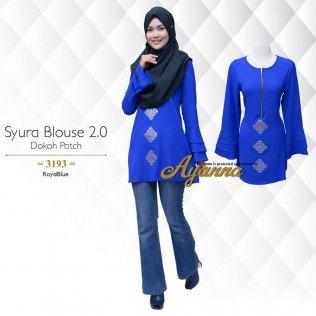 Syura Blouse 2.0 Dokoh Patch 3193 (RoyalBlue)