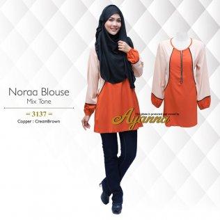 Noraa Blouse Mix Tone 3137 (Copper+CreamBrown)