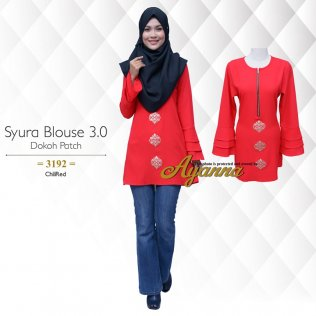 Syura Blouse 3.0 Dokoh Patch 3192 (ChiliRed)