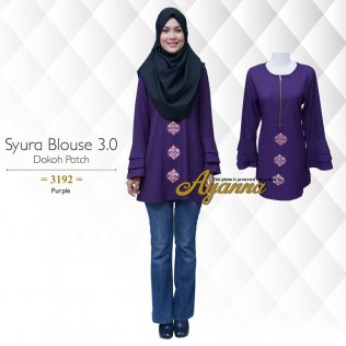 Syura Blouse 3.0 Dokoh Patch 3192 (Purple)