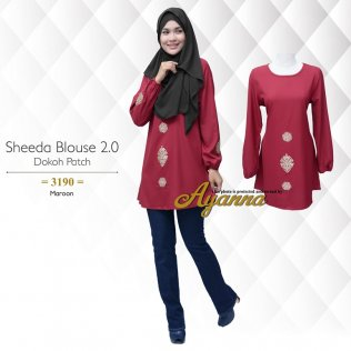 Sheeda Blouse 2.0 Dokoh Patch 3190 (Maroon)