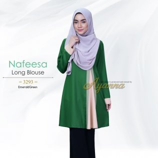 Nafeesa Long Blouse 3293 (EmeraldGreen)
