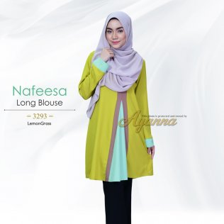 Nafeesa Long Blouse 3293 (LemonGrass)