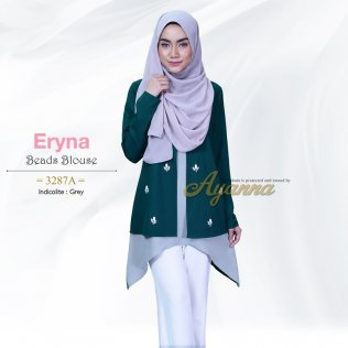 Eryna Beads Blouse 3287A (Indicolite+Grey)