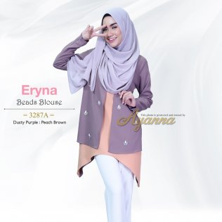 Eryna Beads Blouse 3287A (Dusty Purple+Peach Brown)