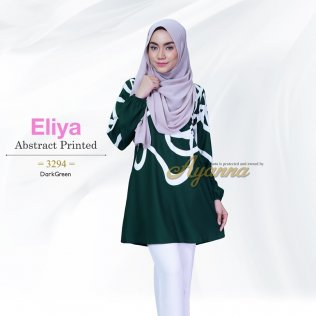 Eliya Abstract Printed 3294 (DarkGreen)