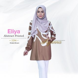 Eliya Abstract Printed 3294 (Khakis Brown)