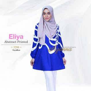 Eliya Abstract Printed 3294 (RoyalBlue)