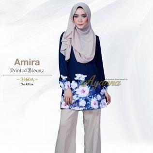 Amira Printed Blouse 3360A (DarkBlue)
