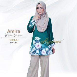 Amira Printed Blouse 3360A (JadeGreen)