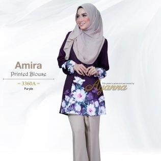 Amira Printed Blouse 3360A (Purple)