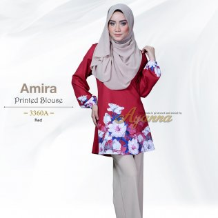 Amira Printed Blouse 3360A (Red)