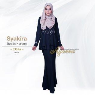 Syakira Beads Kurung 3305A (Black)
