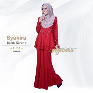 Syakira Beads Kurung 3305A (ChiliRed)