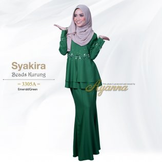 Syakira Beads Kurung 3305A (EmeraldGreen)