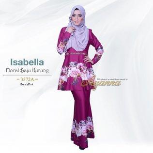 Isabella Floral Baju Kurung 3372A (BerryPink)