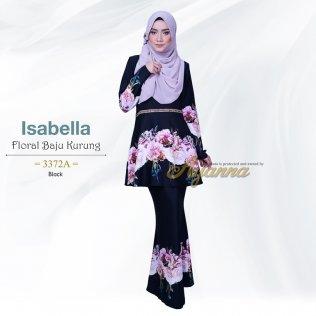 Isabella Floral Baju Kurung 3372A (Black)