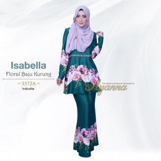 Isabella Floral Baju Kurung 3372A (Indicolite)