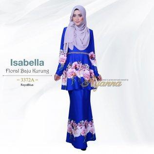 Isabella Floral Baju Kurung 3372A (RoyalBlue)