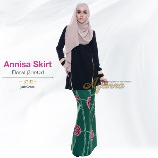 Annisa Skirt Floral Printed 3292 (JadeGreen)
