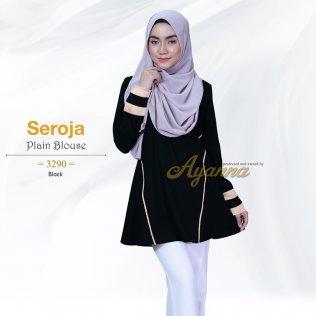 Seroja Plain Blouse 3290 (Black)
