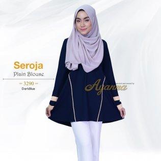 Seroja Plain Blouse 3290 (DarkBlue)