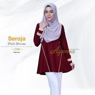 Seroja Plain Blouse 3290 (Maroon)