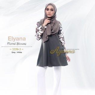 Elyana Floral Blouse 33593 (Grey+White)