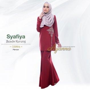 Syafiya Beads Kurung 3309A (Maroon)