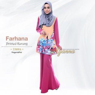 Farhana Printed Kurung 3369A (MagentaPink)