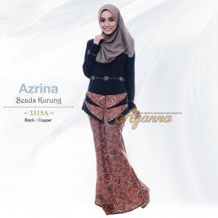 Azrina Beads Kurung 3315A (Black+Copper)
