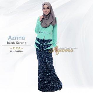 Azrina Beads Kurung 3315A (Mint+DarkBlue)