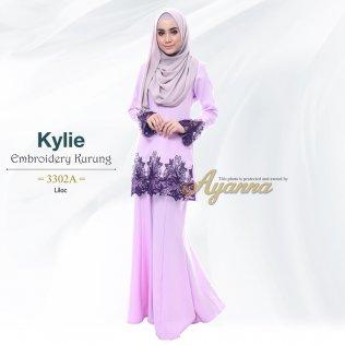 Kylie Embroidery Kurung 3302A (Lilac)
