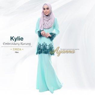 Kylie Embroidery Kurung 3302A (Mint)