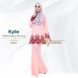 Kylie Embroidery Kurung 3302A (PeachPink)