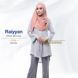 Raiyyan Plain Blouse 3356 (SilverGrey)