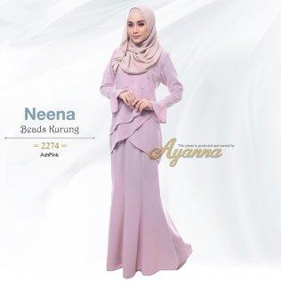 Neena Beads Kurung 2274 (AshPink)