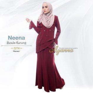 Neena Beads Kurung 2274 (Maroon)