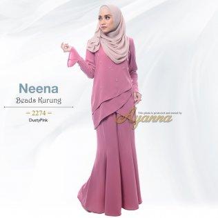 Neena Beads Kurung 2274 (DustyPink)