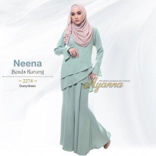 Neena Beads Kurung 2274 (DustyGreen)