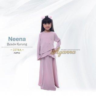 Neena Beads Kurung 2274A (AshPink)