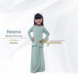 Neena Beads Kurung 2274A (DustyGreen)
