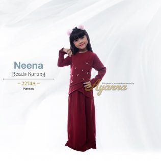 Neena Beads Kurung 2274A (Maroon)