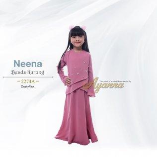 Neena Beads Kurung 2274A (DustyPink)