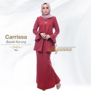 Carrissa Beads Kurung 3343A (Red)