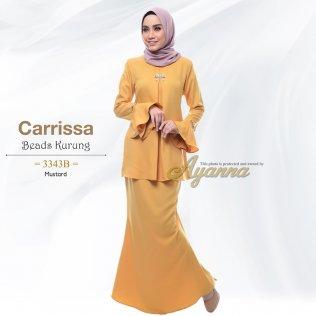 Carrissa Beads Kurung 3343B (Mustard)