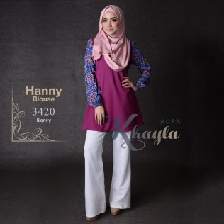 Hanny Blouse 3420 (Berry)