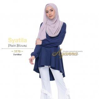 Syatila Plain Blouse 3570 (DarkBlue)