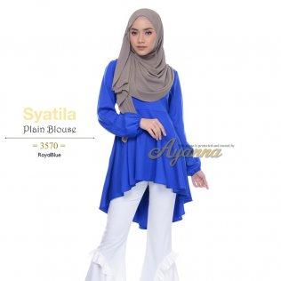 Syatila Plain Blouse 3570 (RoyalBlue)