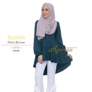 Syatila Plain Blouse 3570 (Indicolite)